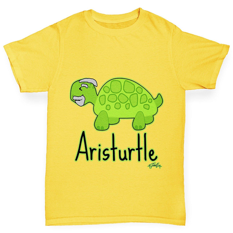 Twisted Envy Men/'s Aristurtle Aristotle Funny Cotton T-Shirt