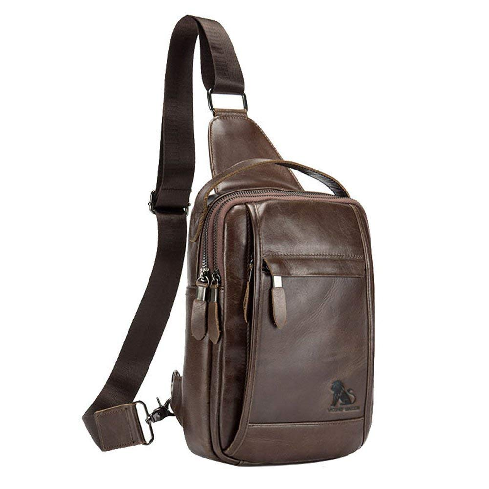 35f4b84a20 Genda 2Archer Mens Leather Unbalance Multipurpose Crossbody Chest Sling Bag
