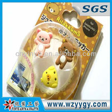 Rilakkuma design cell phone button sticker with promo packing