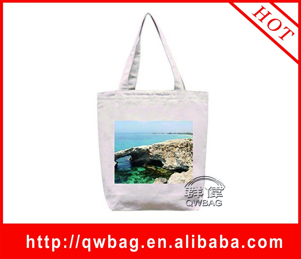 Factory Sell Directly Photo Printing Organic 100% Cotton Bag