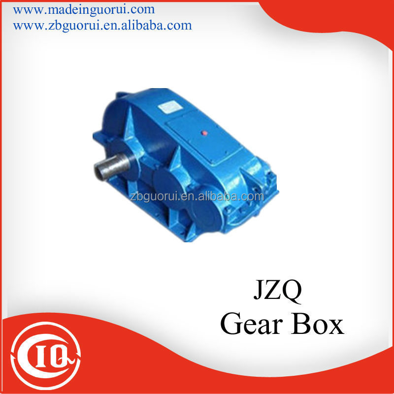 JZQ two stage cylindrical helical tooth gearbox /speed reducer for Dipping machine and vacuum Pump