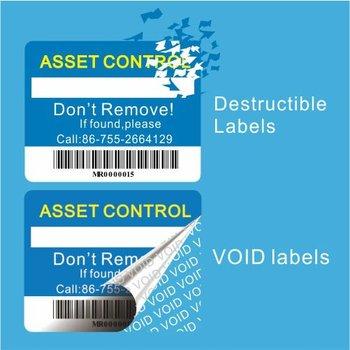 Custom Anti Theft Label Warranty Void Stickers Warranty