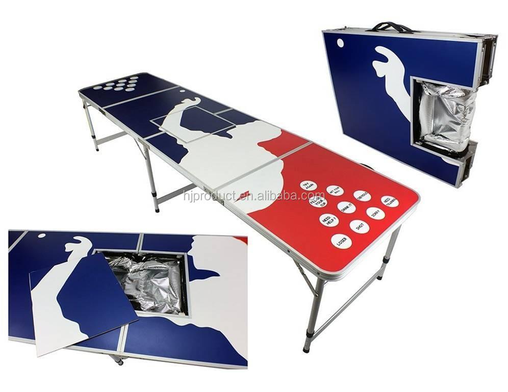 Aluminium frame beer pong tafel draagbare vouwen beer pong