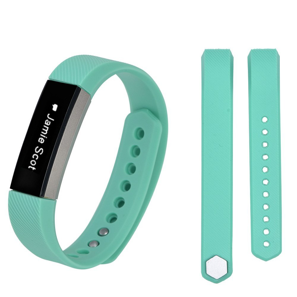iRECOO-Fitbit Alta Quick Fit Replacement Band,Silicone Smart Watch Replacement Band for Fitbit Alta. (Mint Green)
