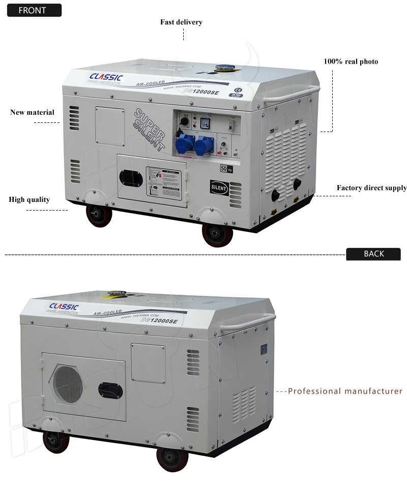 Classic China Long Run Time10kva 3 Phase Generator Home