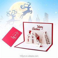 Series Handmade Custom Merry Christmas Greeting Cards Gifts Souvenirs 3D Pop Up card
