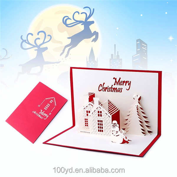 Buy cheap china christmas greeting cards gifts products find china series handmade custom merry christmas greeting cards gifts souvenirs 3d pop up card m4hsunfo
