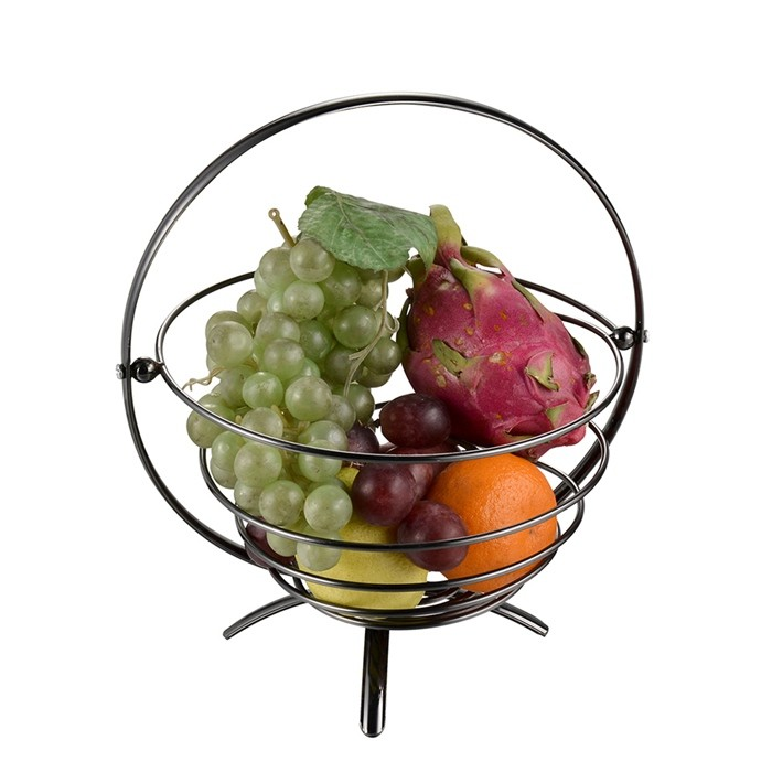Factory Supply Handle Small Metal Fruit Baskets For Fruit Storage