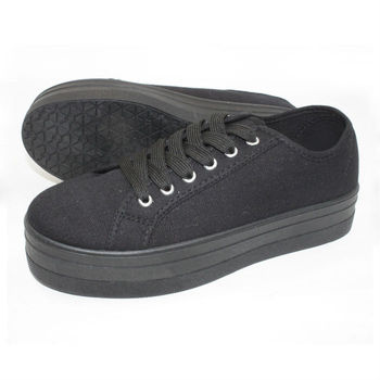 619b078a819d wholesale platform shoes from china womens all black canvas shoes PVC  injection