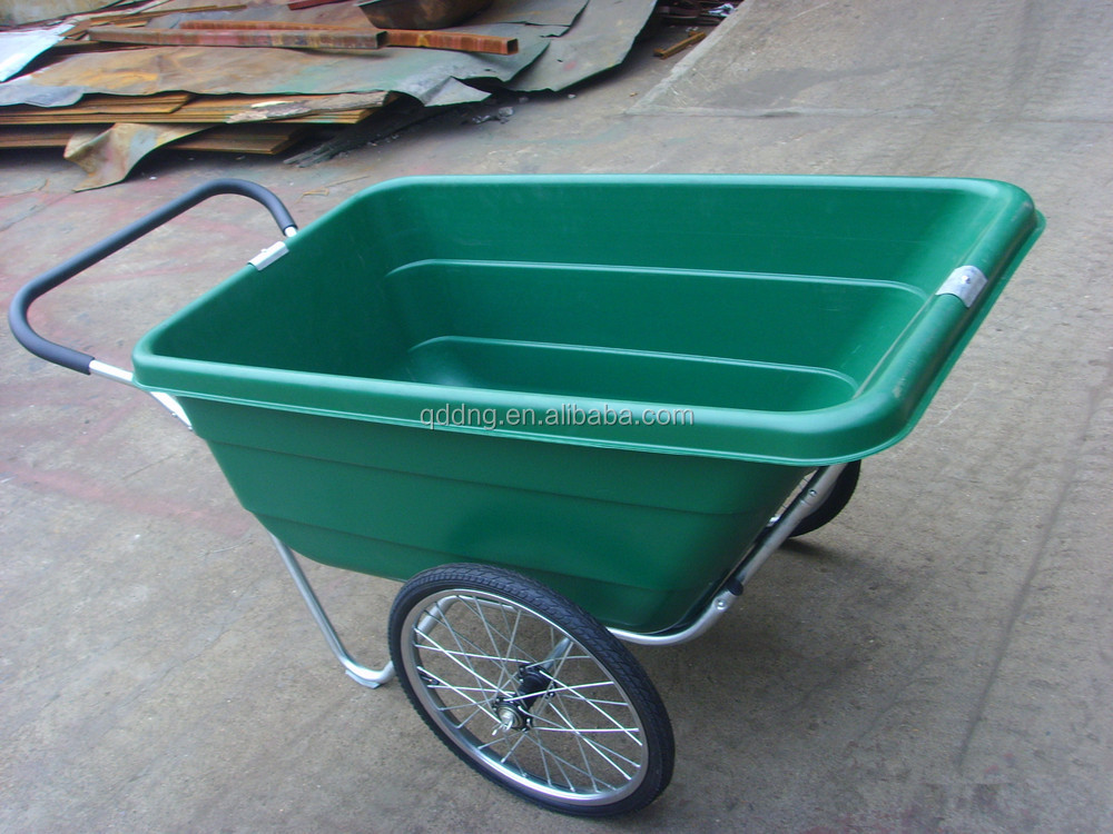 Perfect Plastic Garden Cart With Two Wheels TC3089 Two Wheel Garden Cart