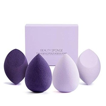 Multi purple colors latex free makeup blender sponges for foundation