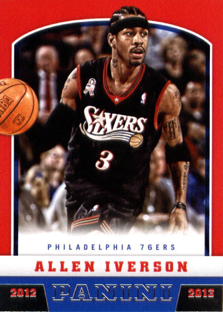 6aa3dbc8054a 2012 Panini Basketball Card (2012-13)  177 Allen Iverson Mint. 4.95. Professional  Allen Iverson Signature Basketball Shoes Cement floor breathe light ...
