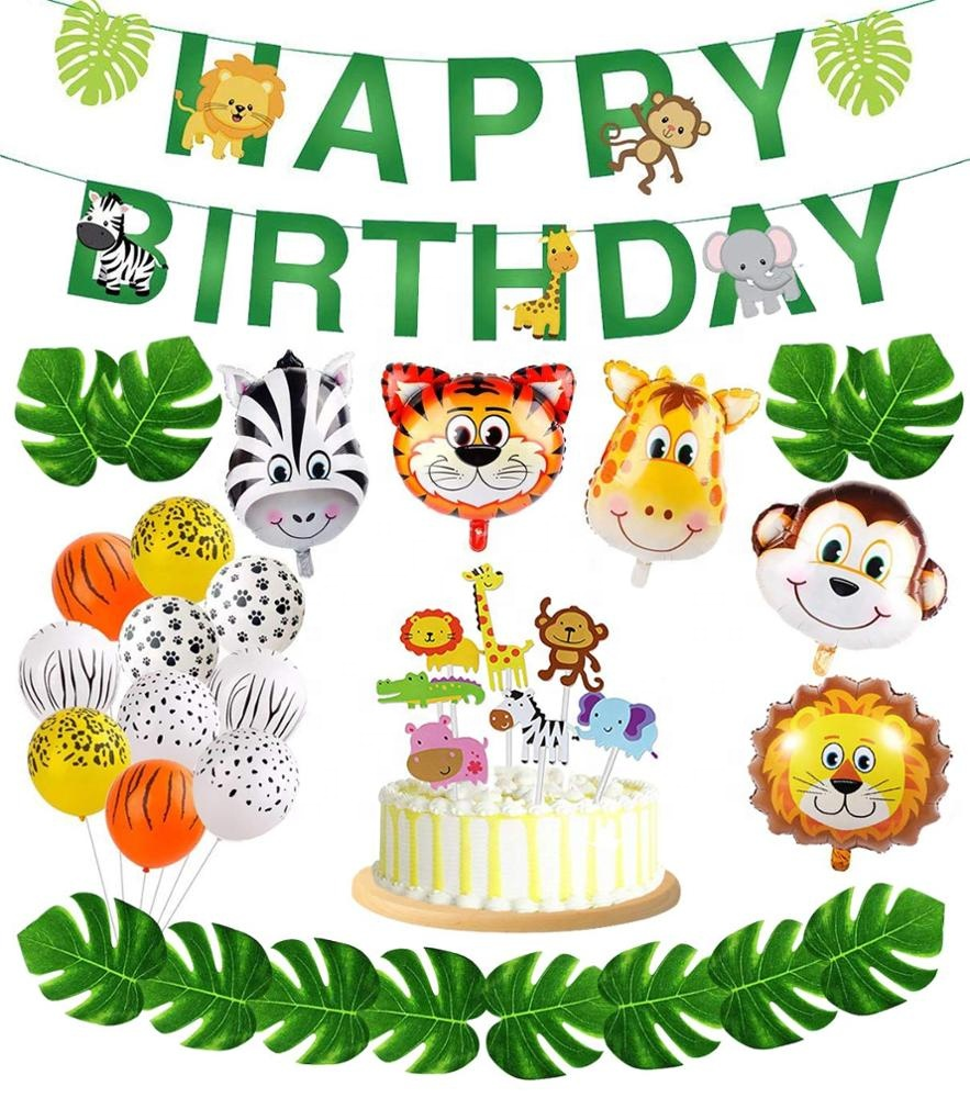 Umiss Paper High Quality Jngle Animal Banner, Birthdays, Fiestas, <strong>Weddings</strong> and Holiday Decorations Factory OEM