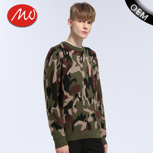 Mens high quality knitted jumper cotton commando sweater for army