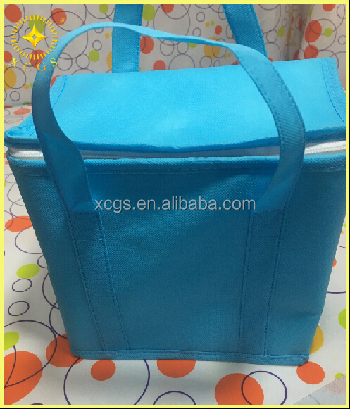 Practical insulated reusable shopping bag thermal portable can cooler bag