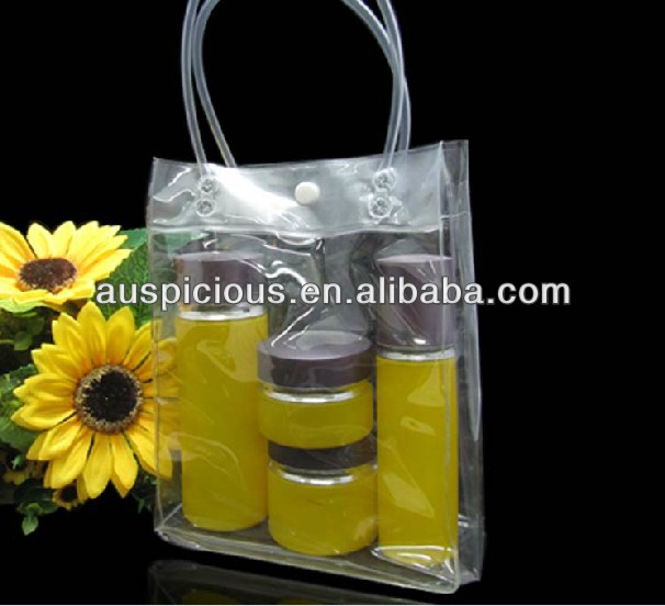Cosmetics Makeup vinyl clothes bag pvc tote bag gift bag
