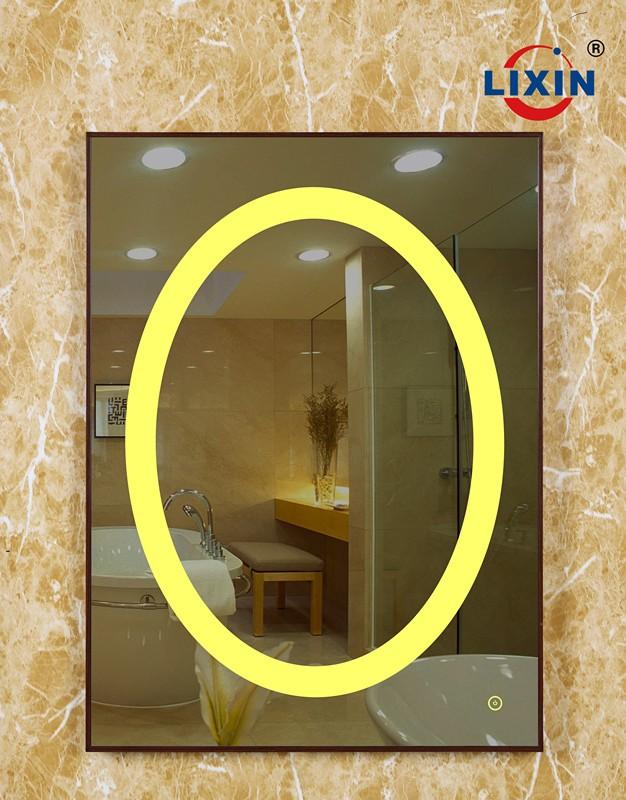 espejo iluminado irregular espejos con led para la decoracin del dormitorio con luces led with espejos con luces led