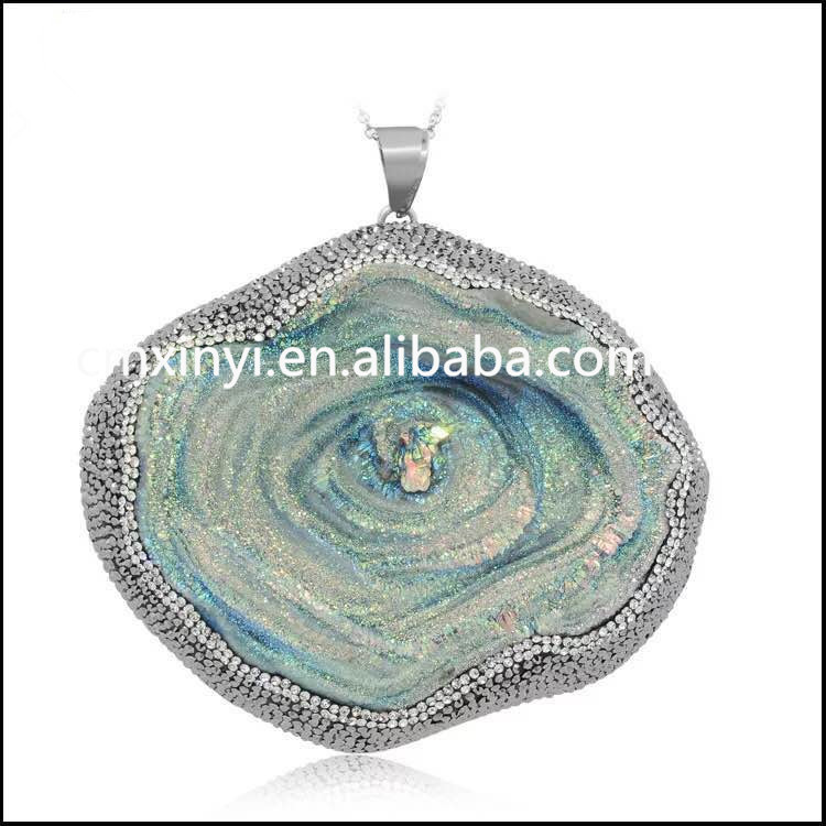 wholesale stone pendants/pendants and charms/ agate jewelry
