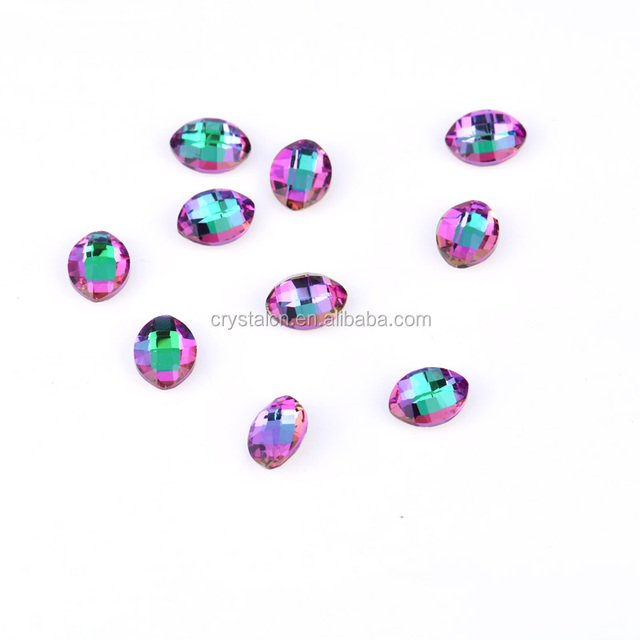 High quality crystal glass gem stone beads for jewelry or nail decoration