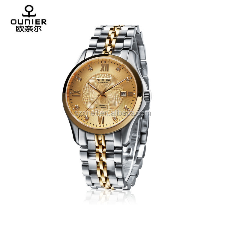 All Stainless Steel Automatic Mechanical Cheap Business Watches Wrist Watches for <strong>Men</strong> and Women