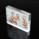 "Free Standing Economic Clear Mini Plexiglass Acrylic 4X6"" 5X7"" 6X8"" 8X10"" Magnetic Magnet Baby Acrylic Photo Picture Block Frame"