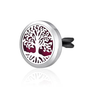 30mm Vent Aromatherapy Essential Oil Diffuser Car Perfume Locket Clip