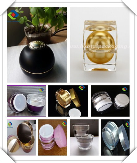 Empty Acrylic Round Lotion Packaging 120ml