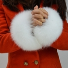 Women Real Fox Fur Sleeve Cuffs Wrist Ring Warm Fashion Winter