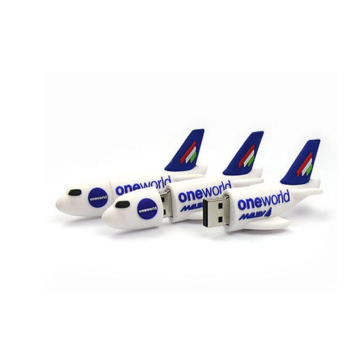 Personalised PVC Airplane Shape 4gb 8gb 16gb 32gb USB Stick Customized Creative 3.0 USB Flash Drive