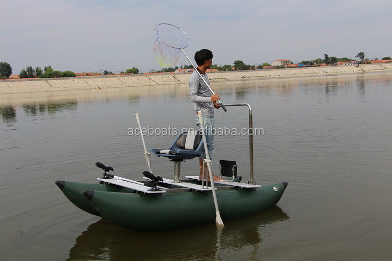 One person inflatable pontoon fishing boats buy one for One man fishing boat