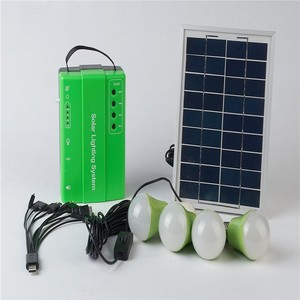 Portable Large Capacity Home Lighting Solar Power System With 4 LED Lamp