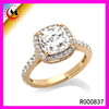 Gold Plated Diamond Engagement Wedding All State Ring For Women