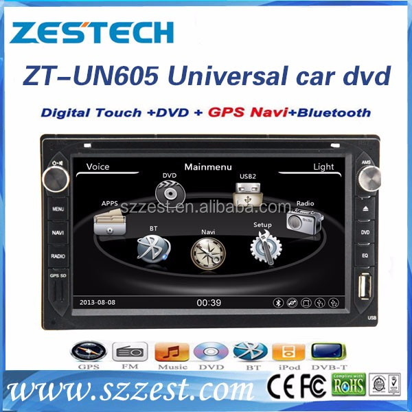 "Shenzhen Manufacturer double din Car stereo for 6.2 "" universal cars sat Navi with DVD GPS USB SD BT SWC high quality"