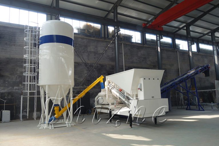 Mini Concrete Batch Plant Cube : Saving space mixing equipment mobile mini concrete