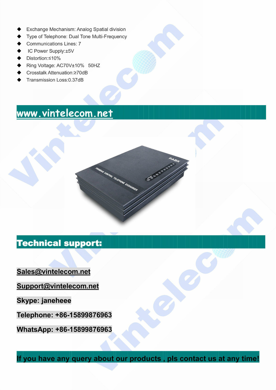 Wholesales Pabx System Vintelecom Sv308 Pbx With 3 Co. External ...