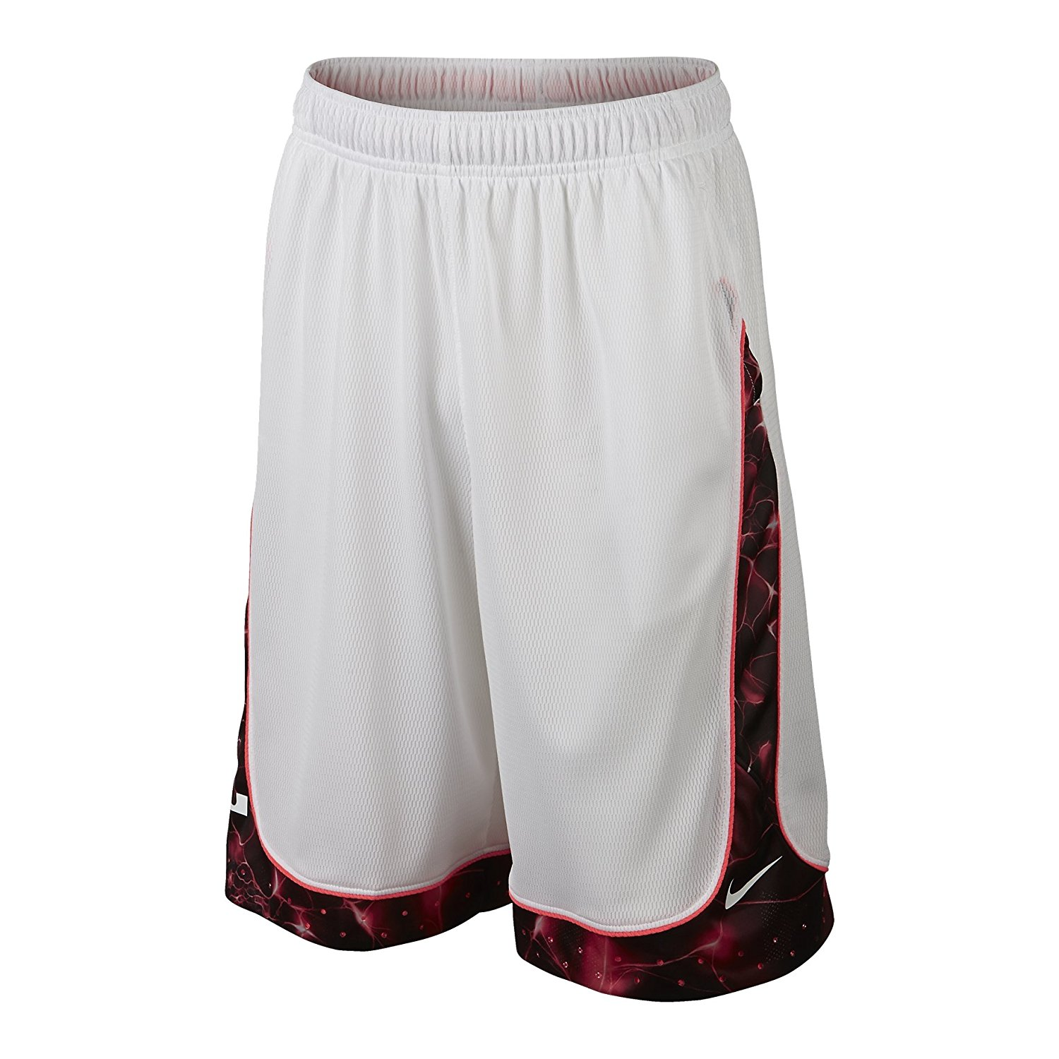 newest collection 66920 4958f Get Quotations · Nike Mens LeBron Helix Elite Basketball Shorts White Hot  Lava Small