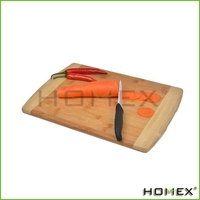 Royal Craft Wood Natural Bamboo Cutting Board, Serving Tray, Extra Large with Kitchen Knives 100% Dishwasher-Safe/Homex_Factory