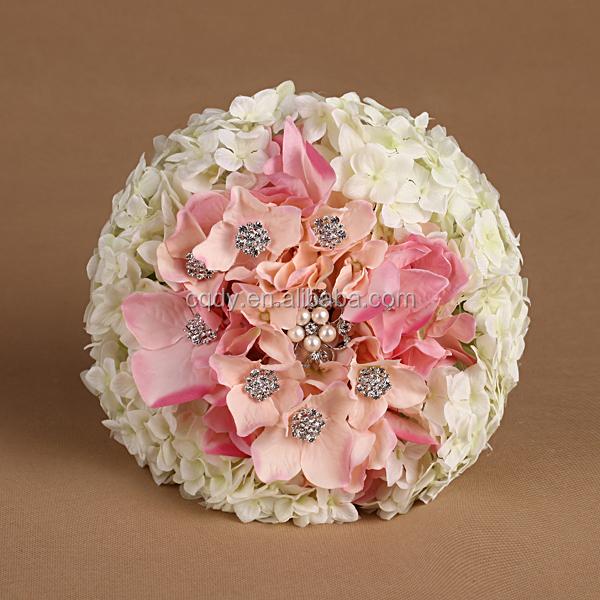 2015 New Design Hand Made Artificial Flower Bouquet Silk Hydrangea ...