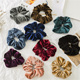 Winter Women Elastic Velvet Scrunchies Hair Accessories Pure Color Classic Hair Tie