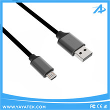 Super flexible TPE Aluminum micro usb cable for Samsung Android USB charging Cable