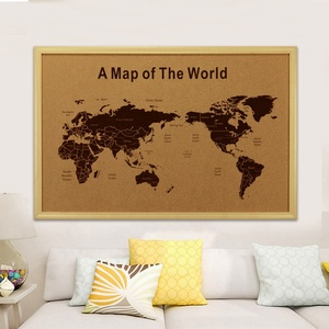 Cork board pins for engraving printing country map