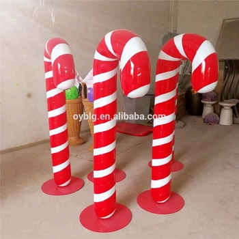2018 popular christmas candy cane decoration holiday ornament crutch statue - Christmas Candy Cane Decorations