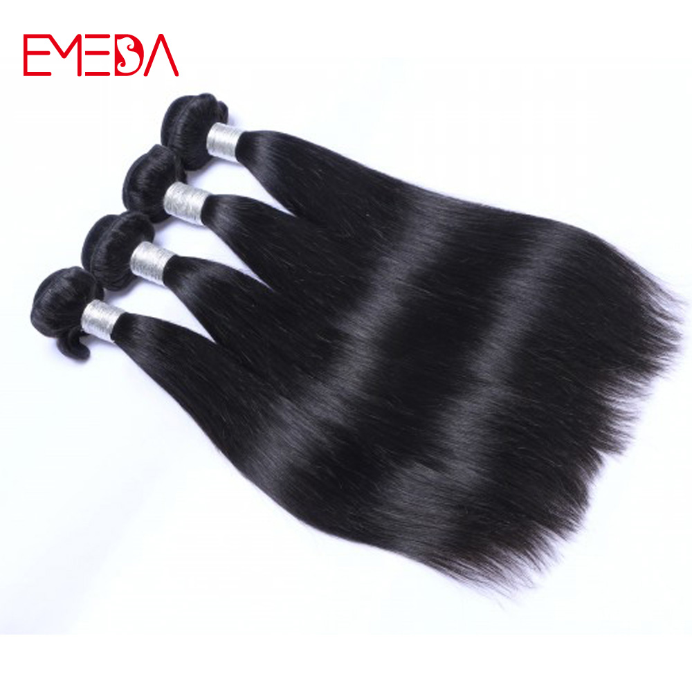 classic 20 inch 100% virgin remy brazilian straight 100 grams human hair weaving bundles accept paypal