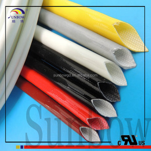4.0KV silicone Rubber coated fiberglass cable protective insulation sleeve