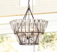 12.10-10 metal frame for a rustic Create a casual cafE ambience in a dining area FRENCH BOTTLE CHANDELIER