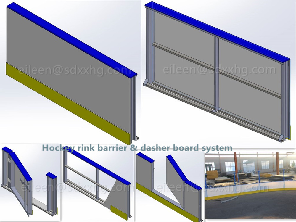Ice Rink Arena Barrier Boards | Arena Rink Systems | Dasher Boards