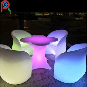 Full Color Changing Led Lighting Chair Bar Table Illuminated Furniture Unique Colour Lights