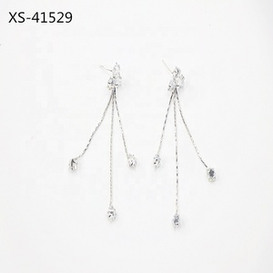 Earrings Jewellery Women Crystal Rhinestone Chain Tassel Luxury Earring