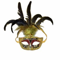 Customized design fashion feather mask
