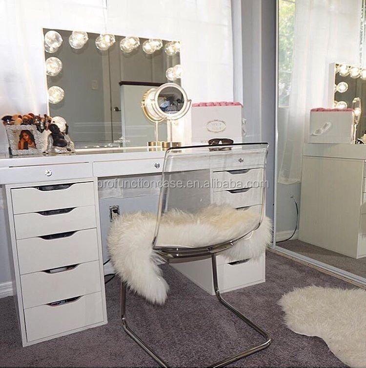 huis slaapkamer luxe meubels verlichting make spiegel voor
